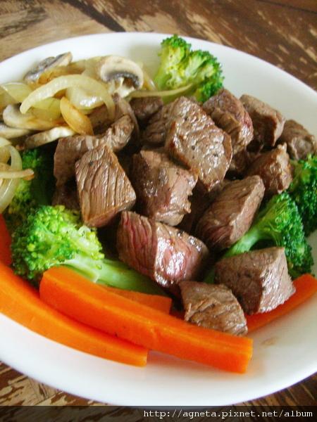 快速骰子牛排(rump steak)