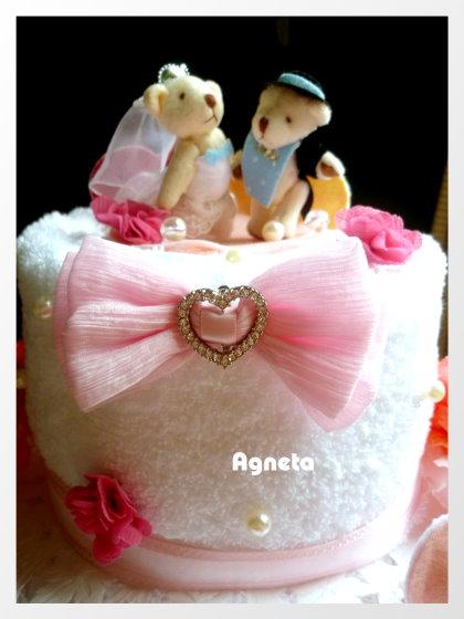 三層毛巾wedding cake