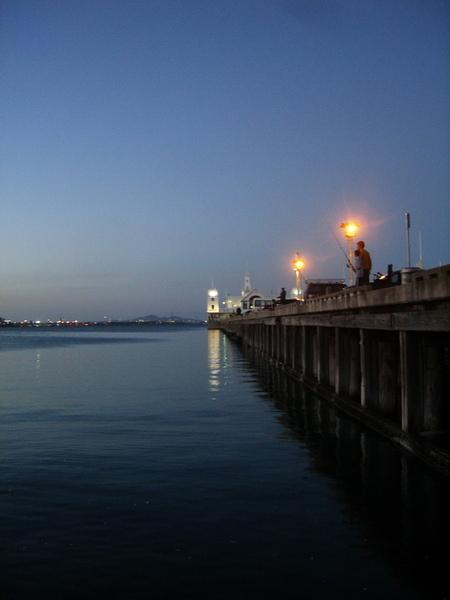 Geelong 傍晚的夜景
