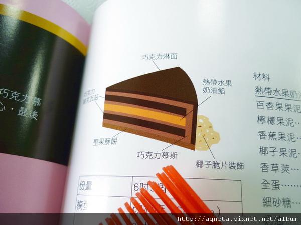 每個甜點都有剖面結構圖