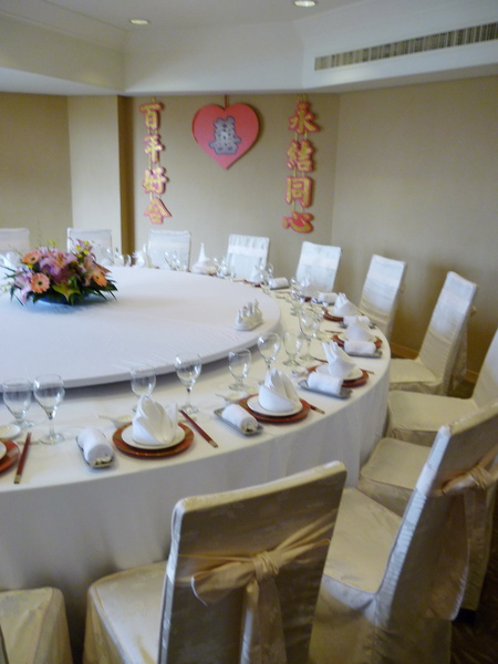 天香廳 比上次的那個小一點  有簡單佈置 20人的大桌子
