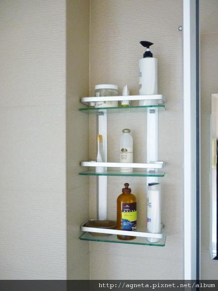 主衛浴 鑽壁沐浴架是在B&Q買的