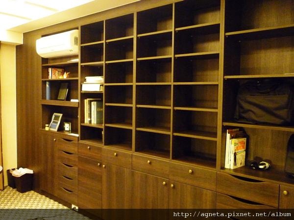 4F 書房 整面系統櫃書櫃