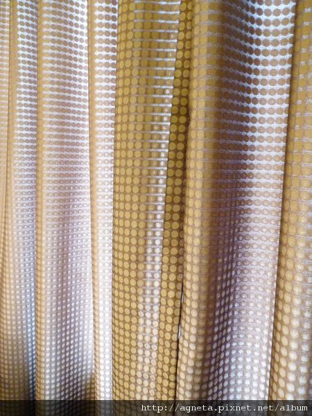 4F 書房的窗簾 咖啡色點點
