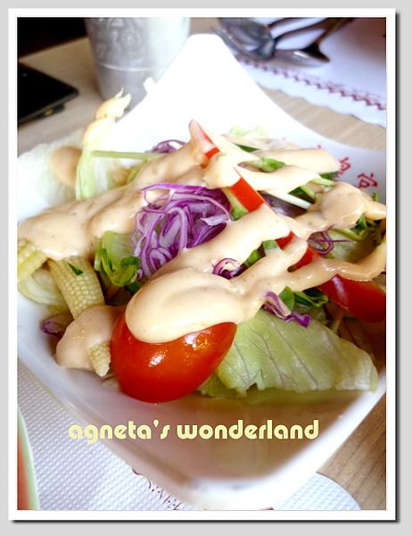 沙拉 w/千島醬汁