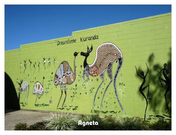 外面的壁畫充滿原住民風