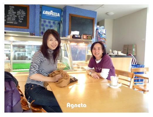 回到以前打工的CAFE跟Letha聊天