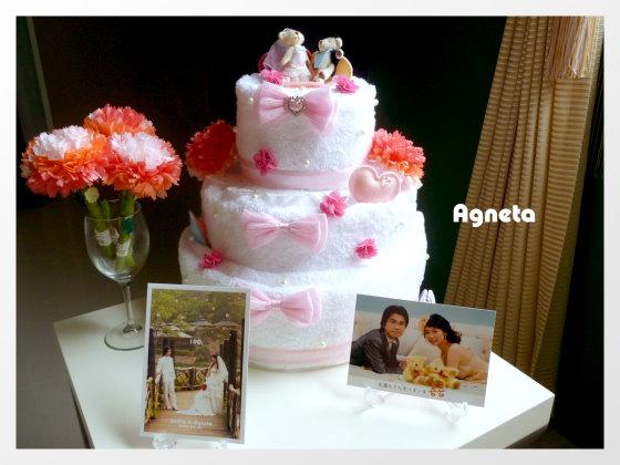 三層毛巾wedding cake和其他布置
