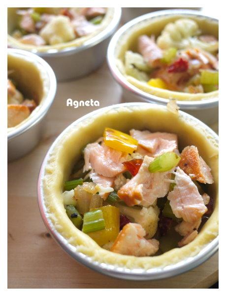 鮭魚時蔬乳蛋鹹塔