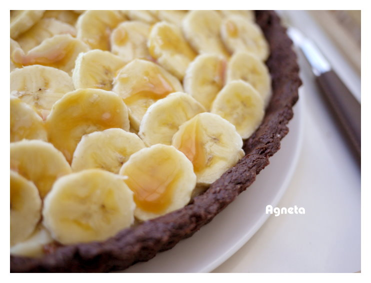 香蕉奶油布丁巧克力塔