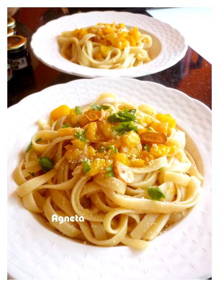 甜椒緹魚義大利麵 anchovy pasta with sweet pepper