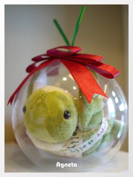 包在透明球裡面的小海龜