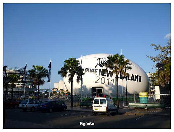 港口邊有Rugby蛋XD