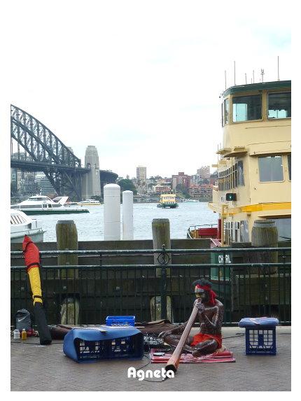 澳洲原住民每天固定在此表演原住民音樂 可以買CD