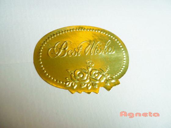 金色浮雕貼紙