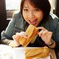 在楓丹白露的中餐...又是三明治