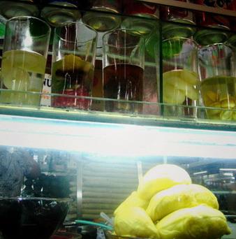 越南市集奇妙的果汁