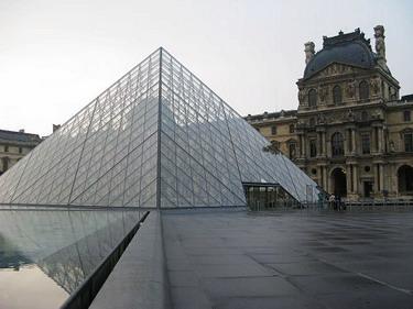 我不是在天母的高島屋我真的在羅浮宮的金字塔了