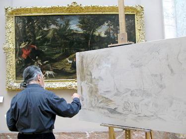 館方特許一些畫家進館臨摹..超棒的啦~因為看原作真的感受不同