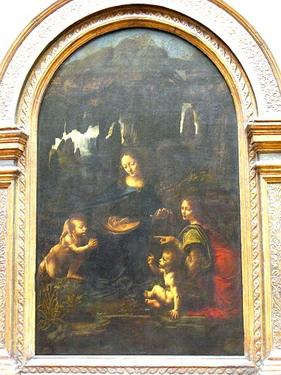 岩間聖母也是達文西密碼裡出現過的畫作