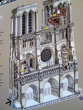 看到了嗎..爬完300多個階梯就可以看到鐘樓怪人的鐘樓了