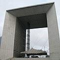 很現代的建築,位於巴黎的商業中心