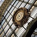 以前是車站的奧塞美術館還留有華麗的大鐘