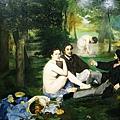 馬奈另一幅備受爭議的作品「草地上的午餐」