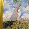 莫內撐傘的女人