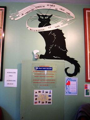 這隻黑貓是蒙馬特的特色圖誌