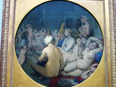 安格爾的土耳其浴室表現出人物的姿態與層次