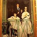 馬奈的陽台..他用的顏色跟接近平塗畫的陽台都表現出整張畫的層次