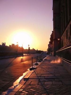 是我們起的太早還是巴黎還沒醒來