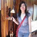 學拐杖上的毛利臉,這是遊客中心