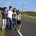 台日公路怪客四枚(左起勞苦功高的Polo爸爸、然後是三隻不事生產的小孩,汗)