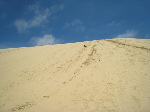 這是最高的一段滑沙區