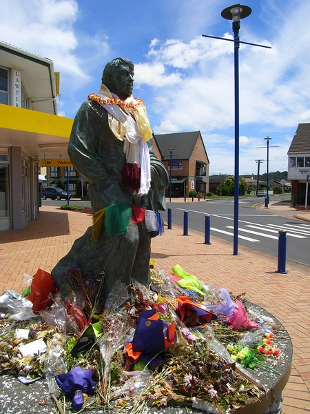 Edmund Hillary 的雕像,他是全球第一位登上聖母峰的人