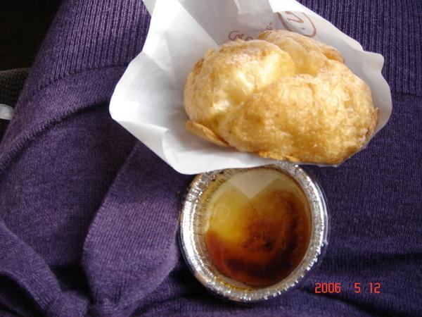 貴醬媽買給我在新幹線上吃的泡芙和布丁 ~~