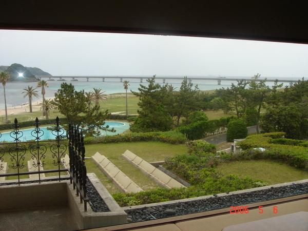 清晨從房間看出的景色有點不同