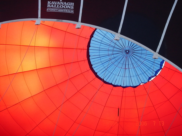 熱氣球裡面長這樣喔!