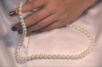 珍珠磁場項鍊