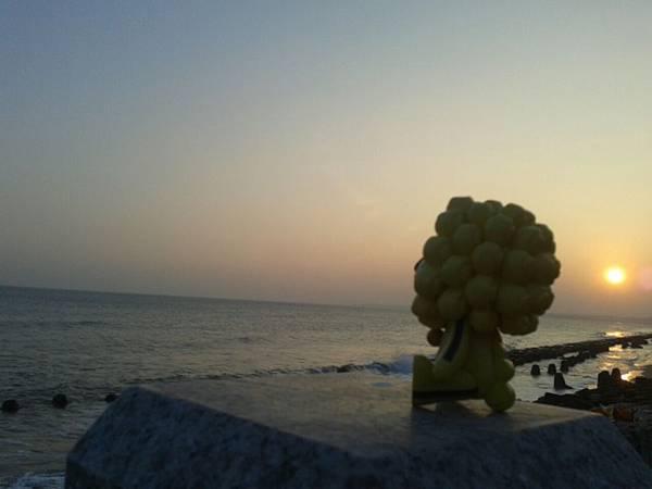 金門島的夕陽