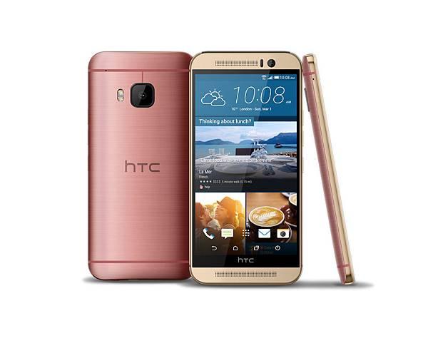 HTC One M9玫瑰金搭配幻彩粉