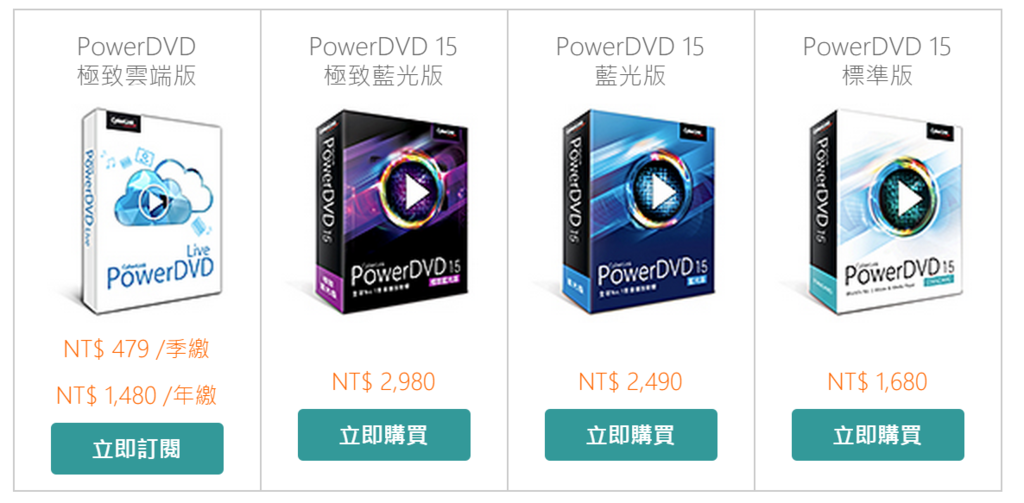 2015-07-02 14_21_29-PowerDVD 15 極致藍光版 - 版本比較 - PowerDVD 15 各版本功能比較 _ 訊連科技
