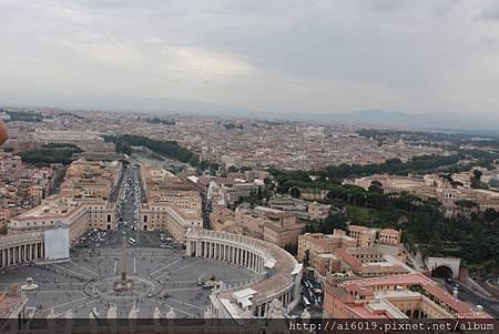 俯瞰美麗的梵蒂岡