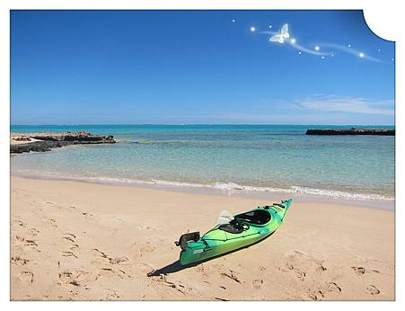 Exmouth 第三個海灘~自備獨木舟