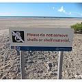 SHELL BAY 請勿把貝殼帶走告示牌