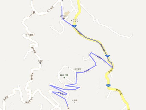 陽明山花鐘停車場---Google-地圖