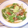 叉燒炒小白菜