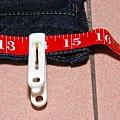 洗完後腰圍平量大約是15.5吋